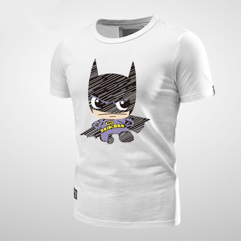 Cartoon Batman Symbol T Shirt Black Mens Tee Wishiny