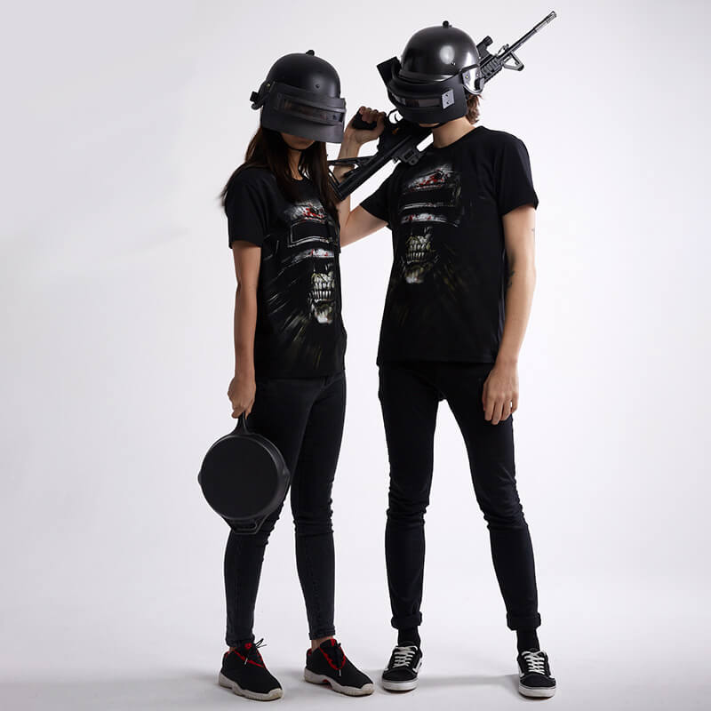 Cool 3d Pubg Steel Helmet T Shirt Playerunknown S Battlegrounds Tee