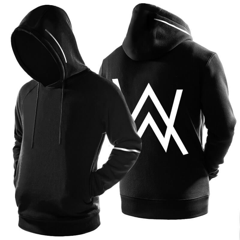 Cool Alan Walker Faded Pullover Hoodie Black 3XL Sweatshirt