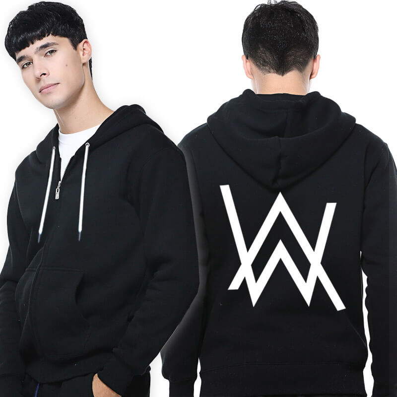 Cool Alan Walker Faded Singer Hoodie Zip Up Hooded Sweatshirt