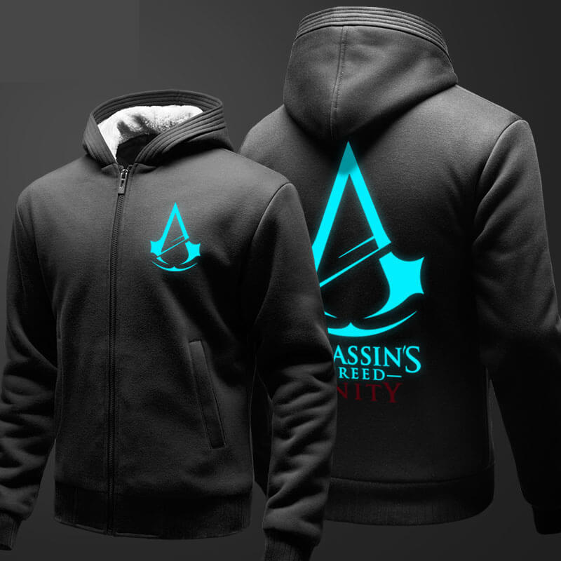 Cool Assassin S Creed Hoodie Mens Fleece Thick Zip Up Hooded