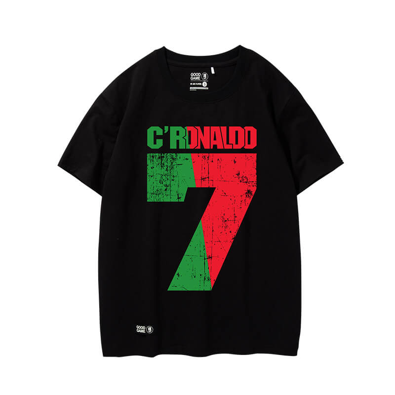 cool cristiano ronaldo t shirt cr7 black tee shirts wishiny. Black Bedroom Furniture Sets. Home Design Ideas