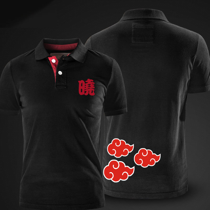 Cool Naruto Polo t shirt whtie xxl mens polo shirts | WISHINY