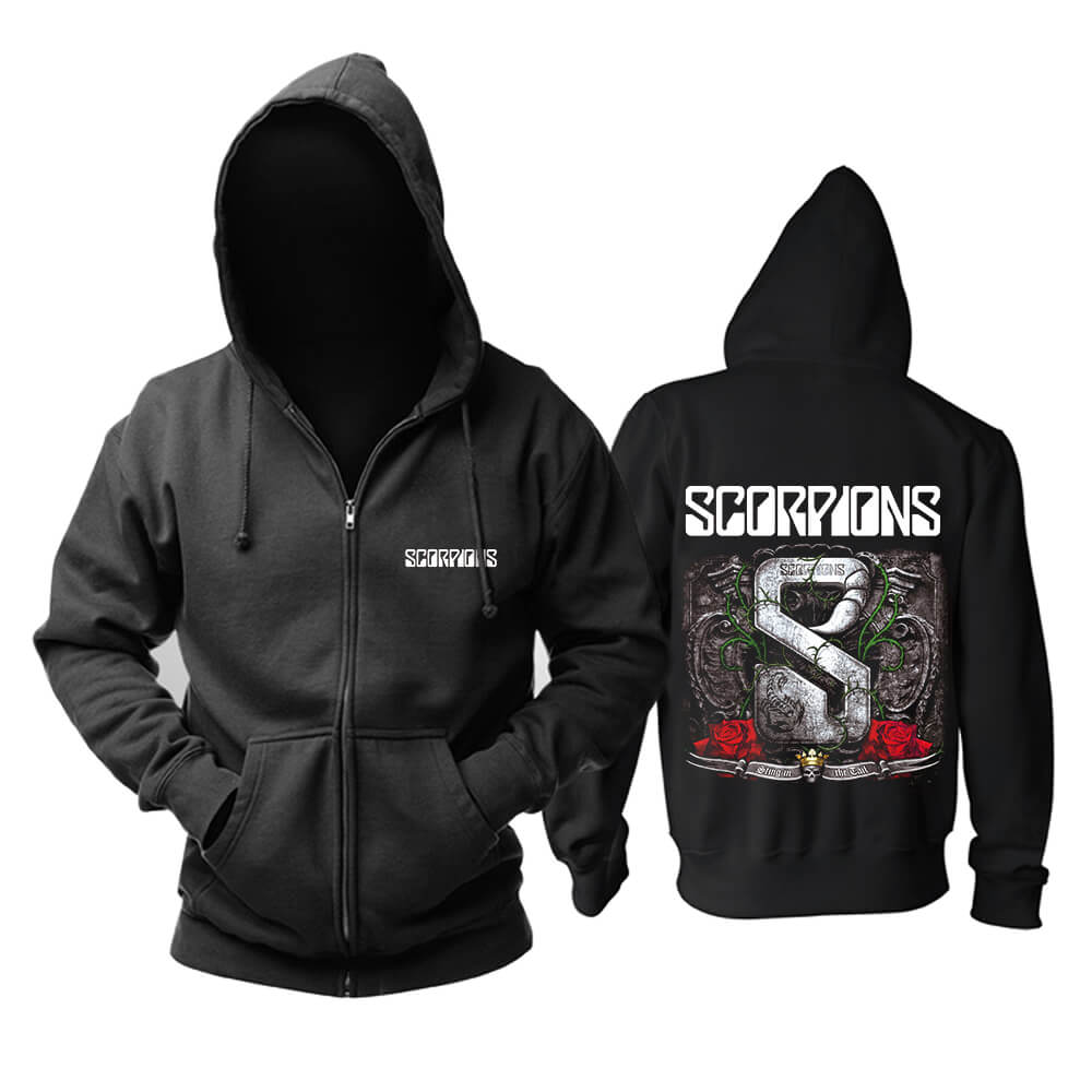 Cool Scorpions Sting In The Tail Hooded Sweatshirts Germany Metal Rock Band Hoodie