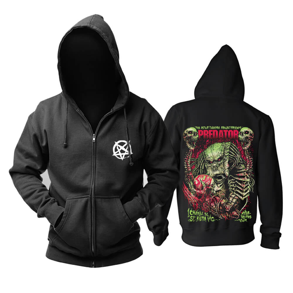 Cool Skull Hoodie Hard Rock Metal Rock Sweat Shirt