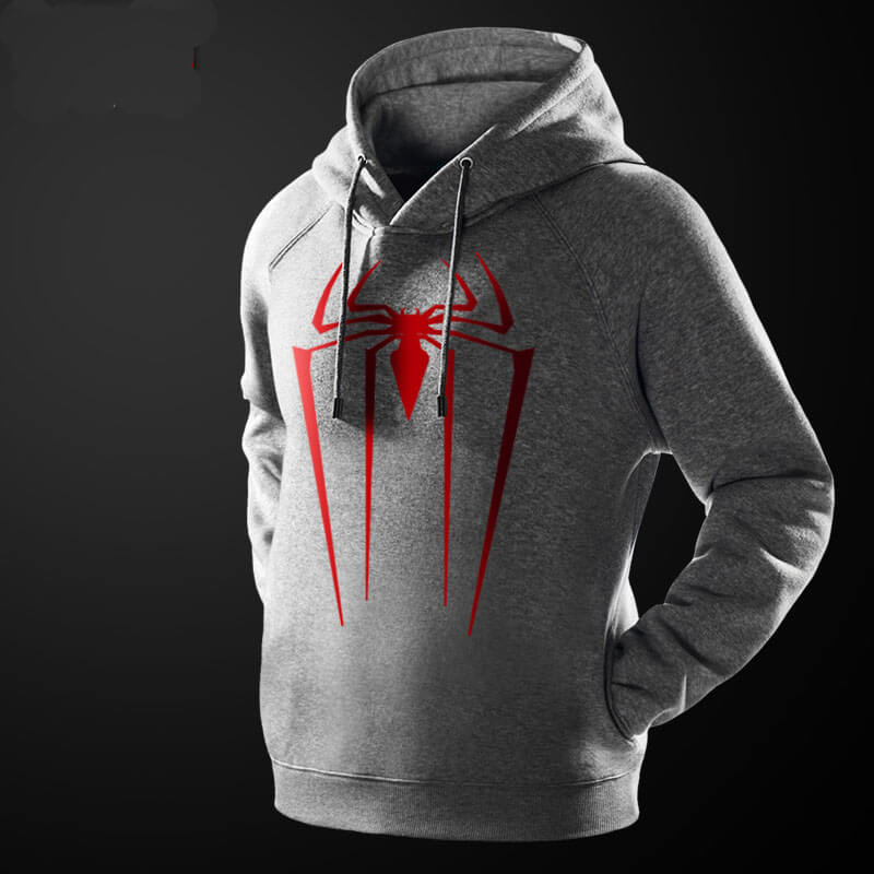 Cool Spider-man Hooded Sweatshirt Black Marvel Superhero Hoodie