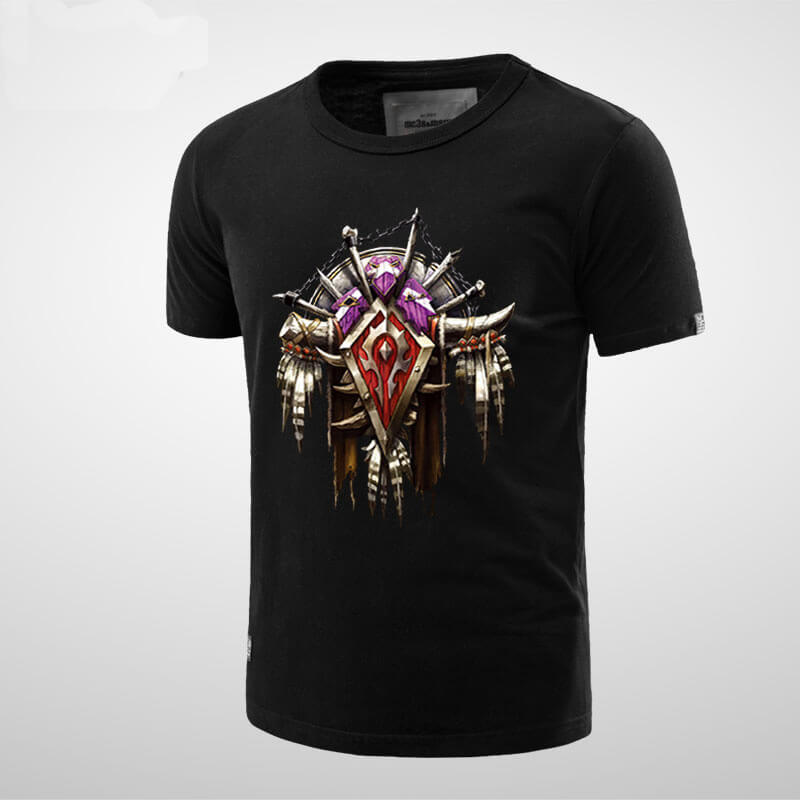 Cool World of Warcraft Horde Logo T-shirt for Men