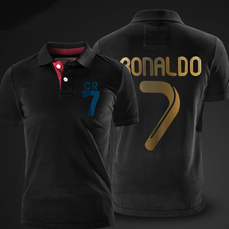 competitive price cfd7c 4e52f Cristiano Ronaldo CR7 Black Polo Shirt | Wishiny