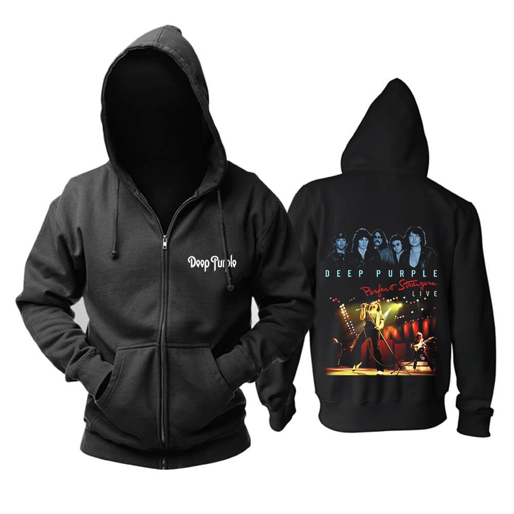 Deep Purple Perfect Strangers Live Hoody Rock Band Hoodie