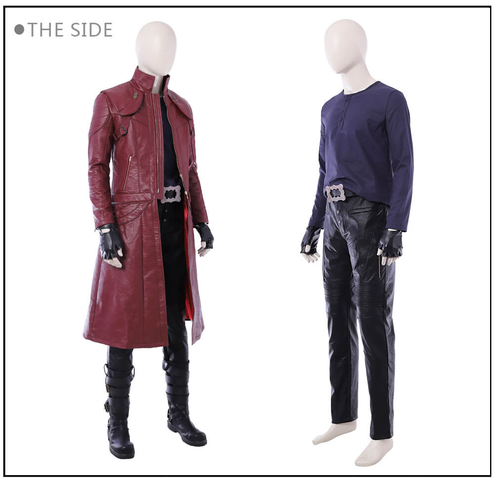Devil May Cry Cosplay Costume DMC 5 Dante PU Leather Jacket