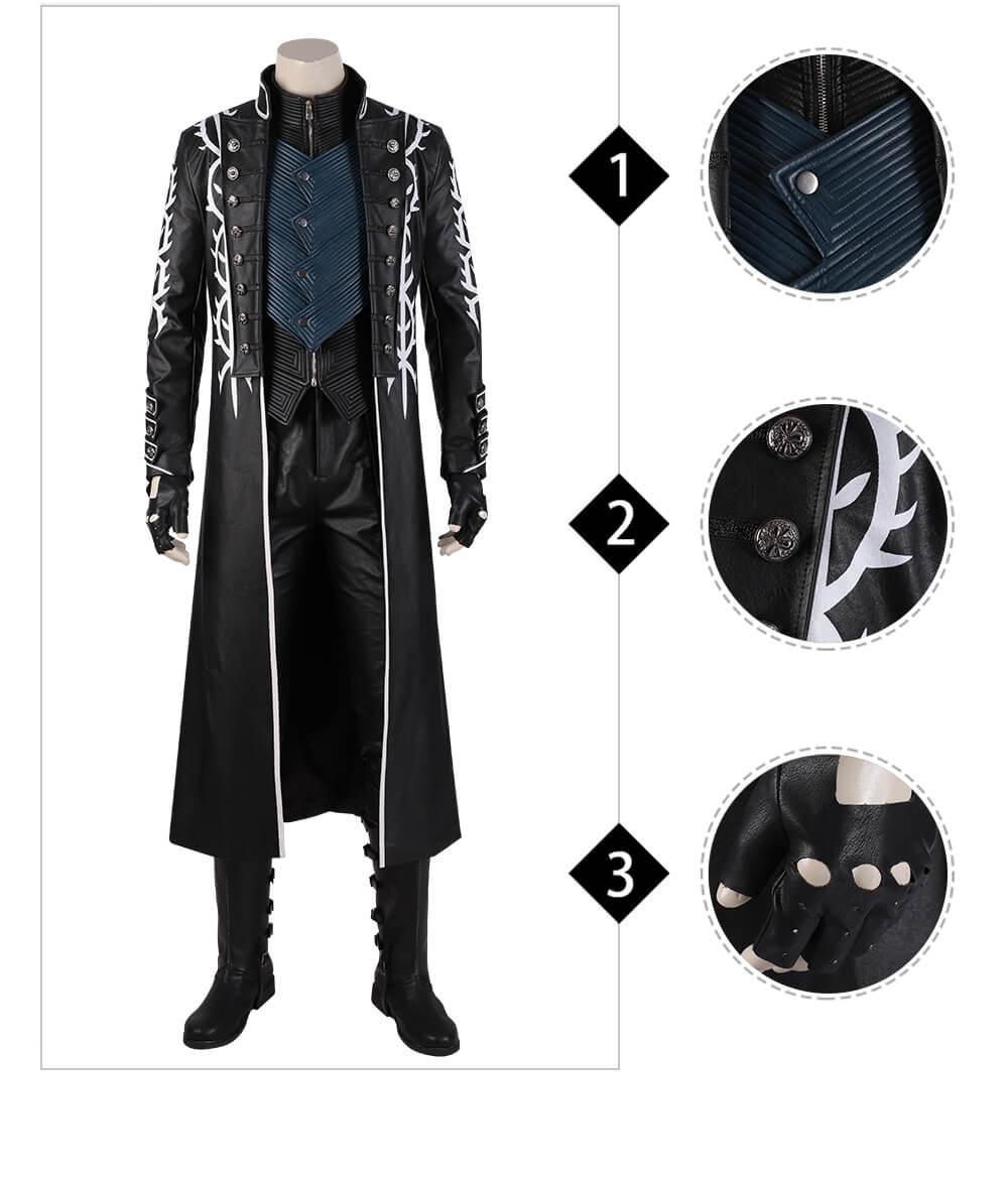 DMC 5 Game Vergil Cosplay Devil May Cry Coat