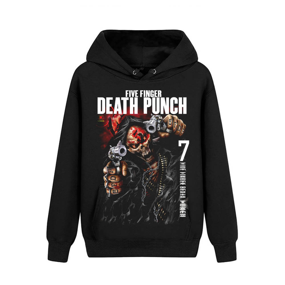 Five Finger Death Punch Hooded Sweatshirts California Hard Rock Music Hoodie