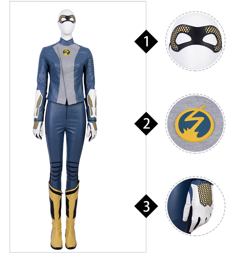 The Flash Season 5 Barry Allen Cosplay Costume Flash Nora Cloth