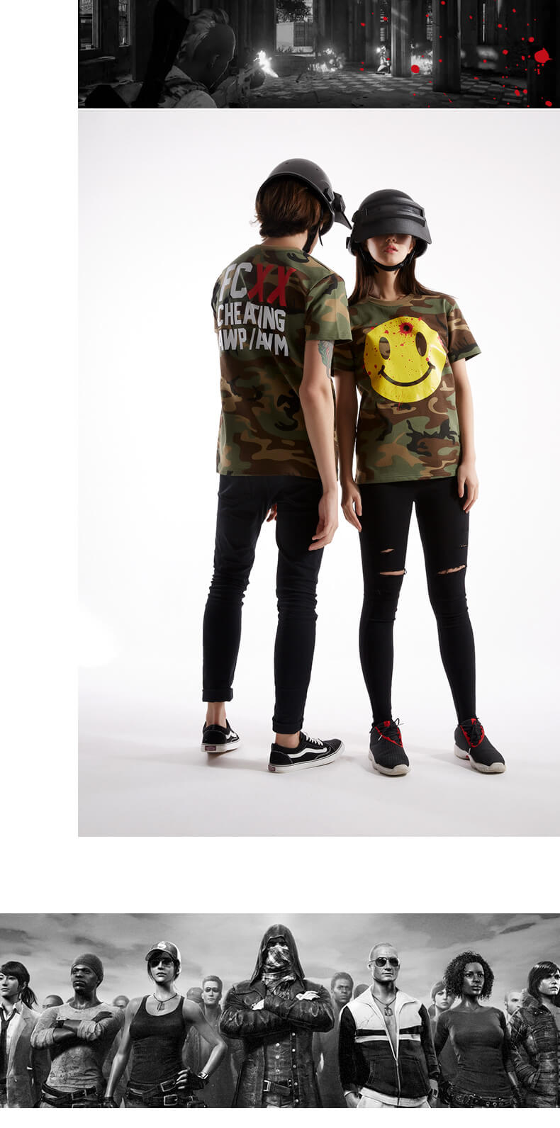 Funny Pubg Tshirt Black Couple Playerunknown'S Battlegrounds T-shirt