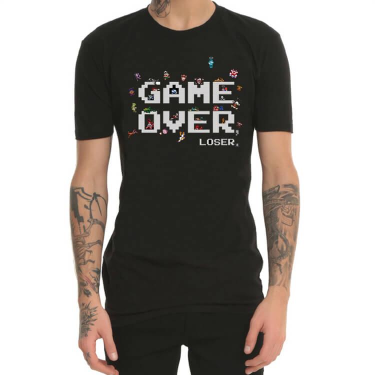 3956986e671c Hra cez 8Bit 8-Bit herné stroje Červené a biele tlačové tričká