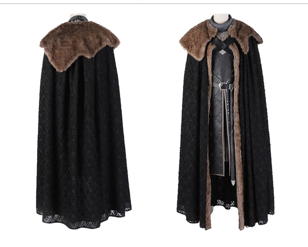 Game of Thrones Cosplay Costumes Jon Snow Costume Outfit