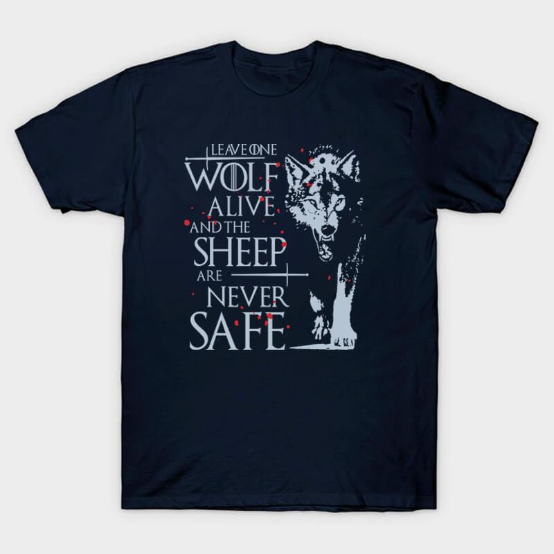 Game of Thrones Jon Snow Wolf T-shirt