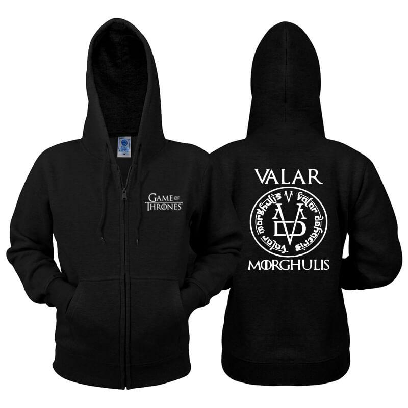 Game of Thrones Zip Sweatshirt Valar Morghulis Hoodie