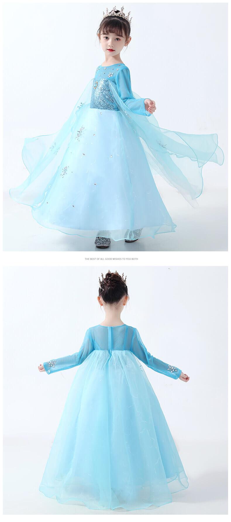 Girls Quality Disney Frozen 2 Elsa Dress Elsa Dress Up Costume For Kids