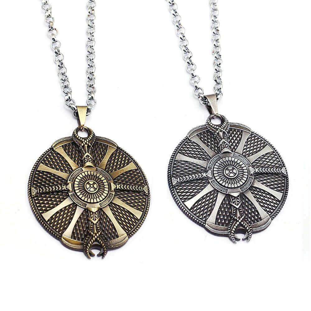 God of War 4 Kratos Guardian Shield Necklace