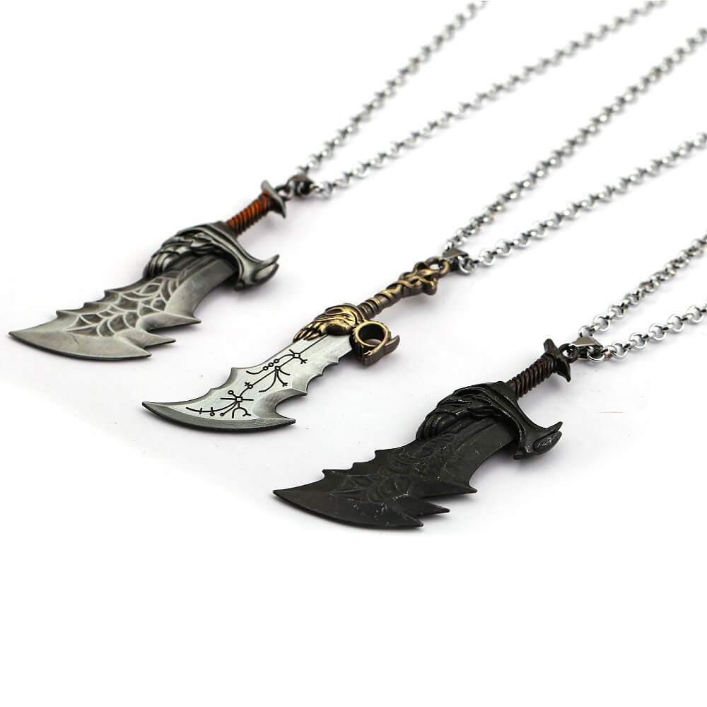 God of War Blade of Chaos Pendant Necklace