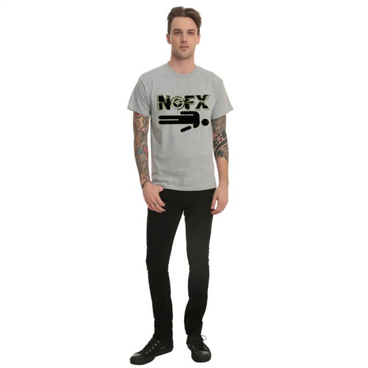 689319bbc42 ... Šedé tričko Nofx Heavy Metal Rock