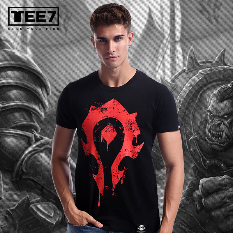 World of Warcraft Horde Logo T-shirt Blizzard WOW For the Horde Tee