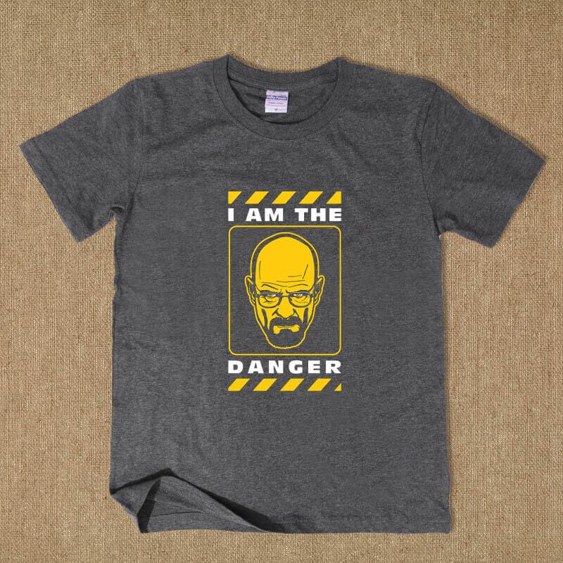 I Am The Danger Walter White Tshirt Breaking Bad Dark Grey Tee