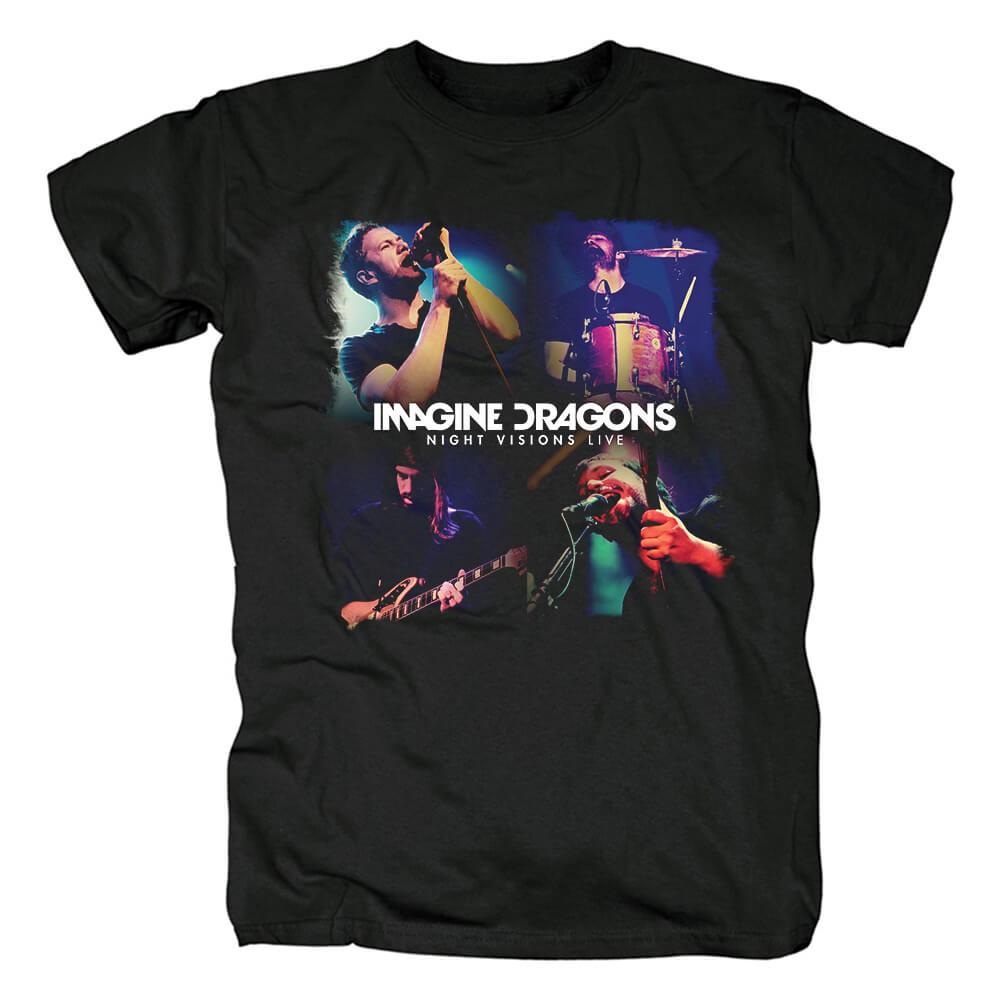 Imagine Dragons Night Visions Live T-Shirt Us Rock Band Shirts