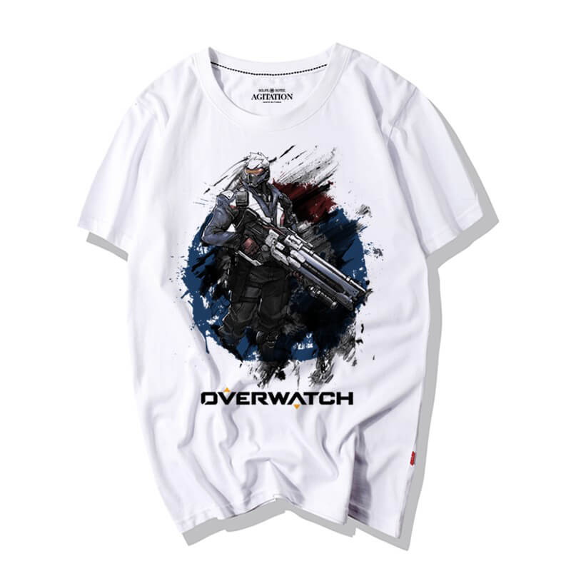 Ink print Soldier 76 T-Shirts