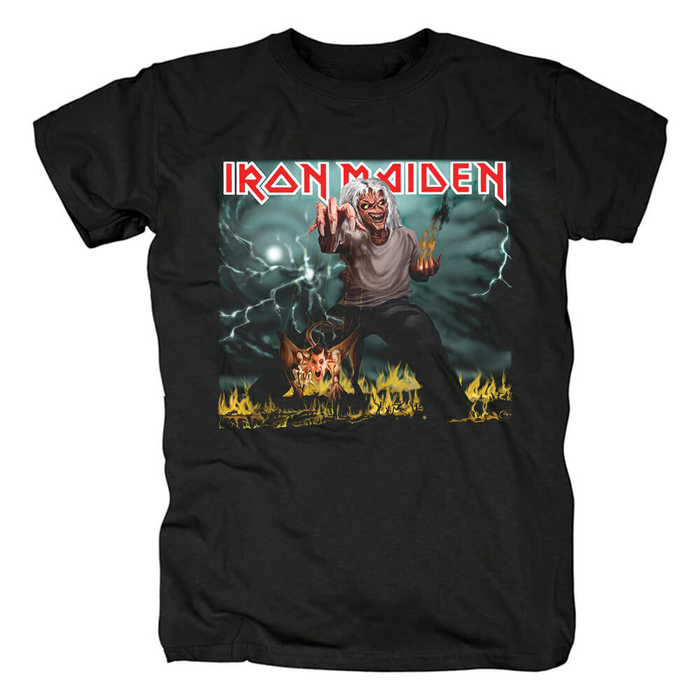 Iron Maiden Band The Number Of The Beast Tees Uk Metal T-Shirt