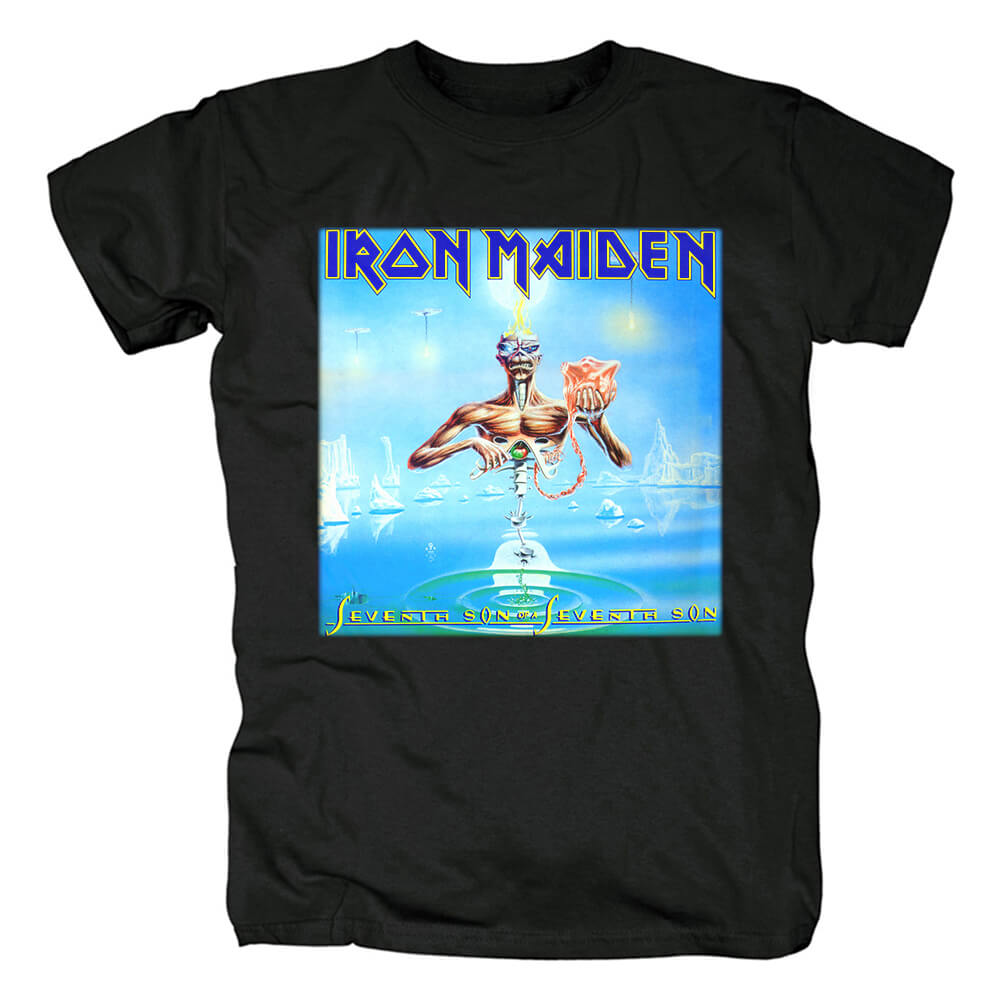 Iron Maiden Band Seventh Son Of A Seventh Son T-Shirt Uk Metal Rock Tshirts