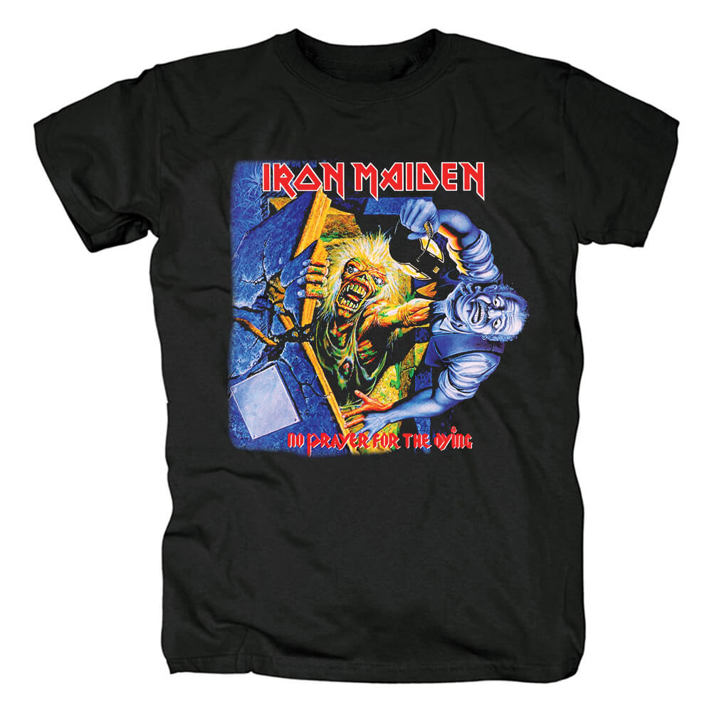 Iron Maiden No Prayer For The Dying T-Shirt Uk Metal Rock Band Shirts