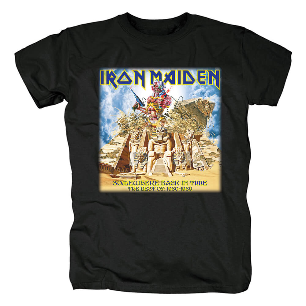 Iron Maiden Somewhere Back In Time Tee Shirts Uk Metal Rock Band T-Shirt