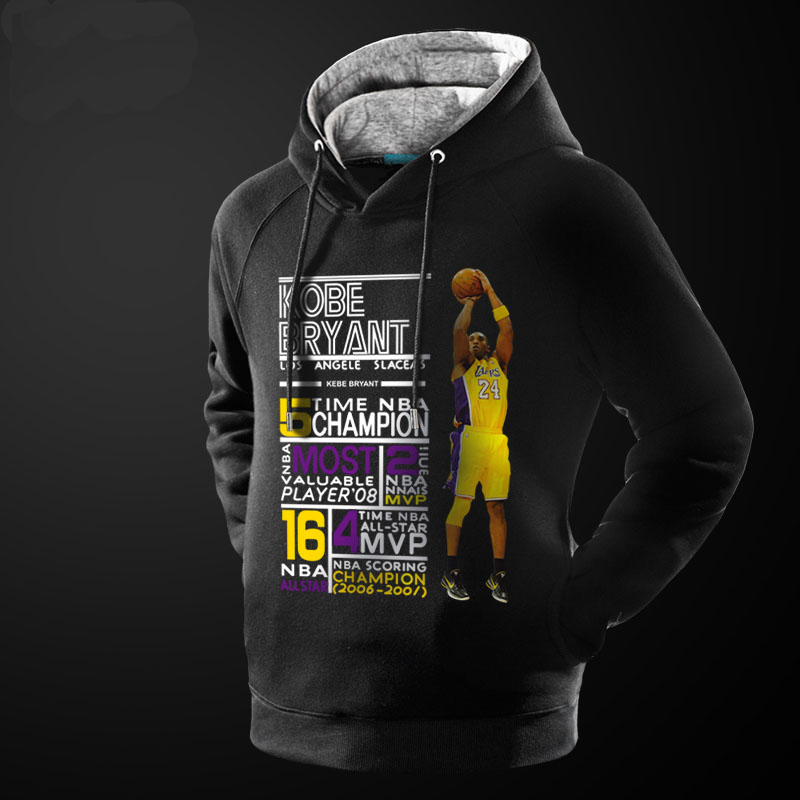 Kobe Bryant's Achievement Hoodie Red 3XL NBA Pollover Sweater
