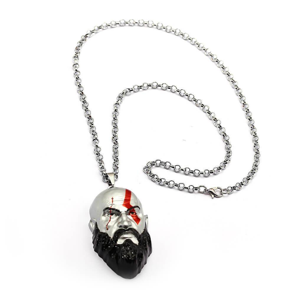 Kratos 3D Head Alloy Necklace