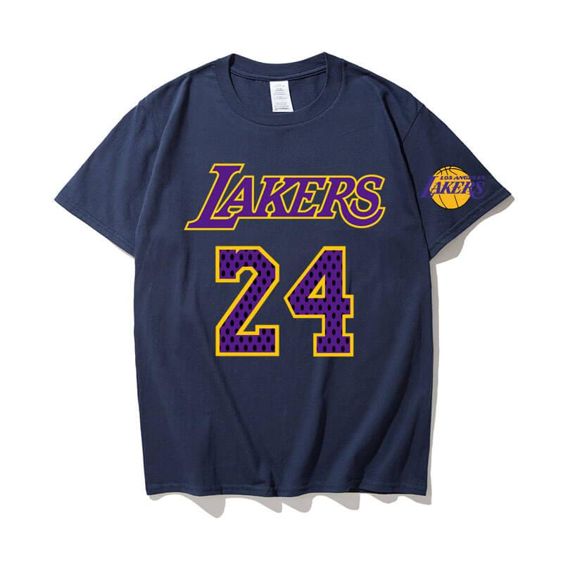 Lakers Kobe Bryant 24 Black Shirt