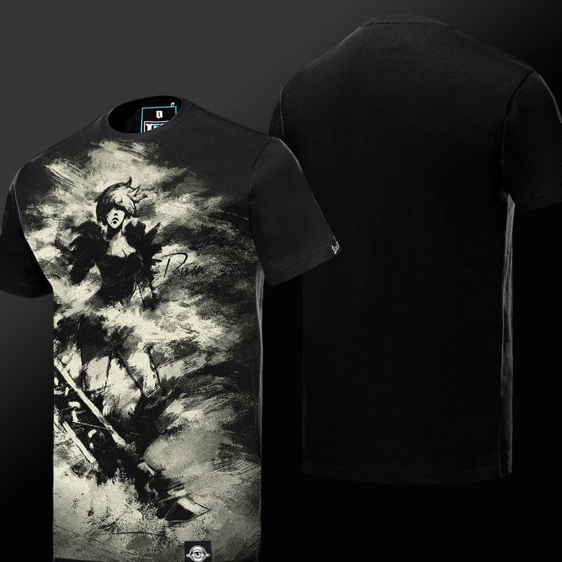 LOL Riven Tshirt Ink Printer Exile League of Legends T-shirt