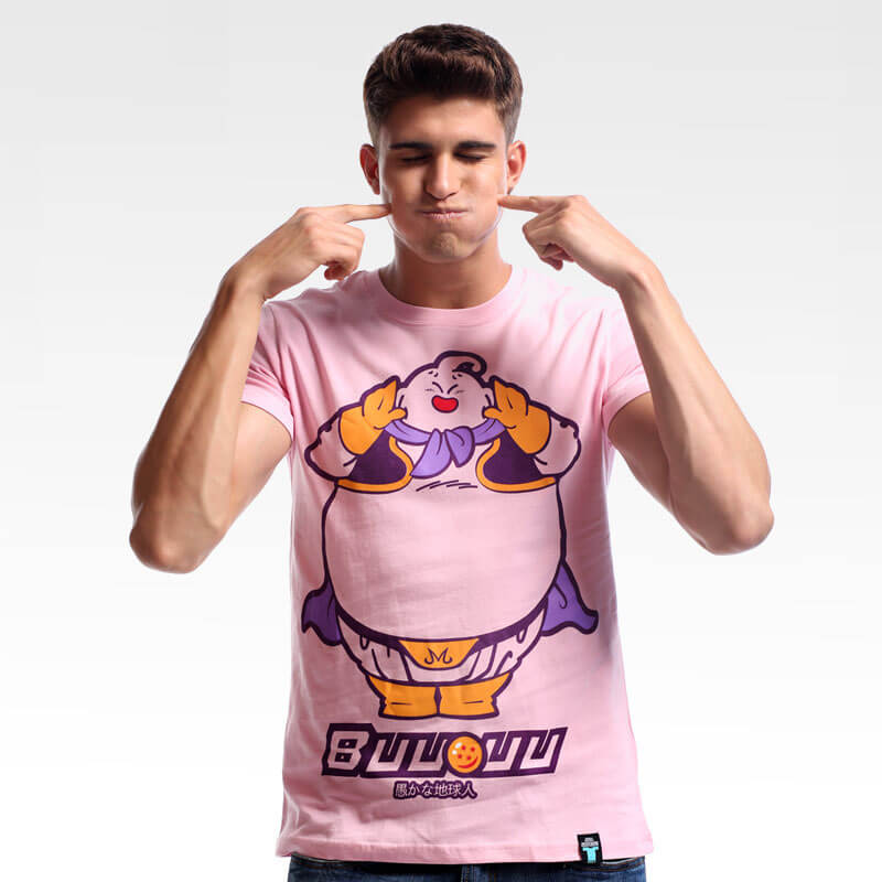 Lovely Dragon Ball Majin Buu T-shirt Pink Cotton Tee Shirt