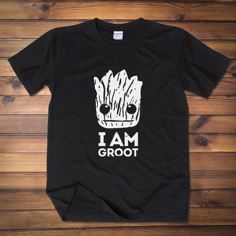 Lovely I am Groot T-shirt Black Guardians Of The Galaxy 2 Tshirt