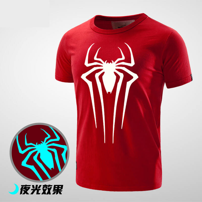 Luminous Spiderman Birthday T Shirt For Men Boy
