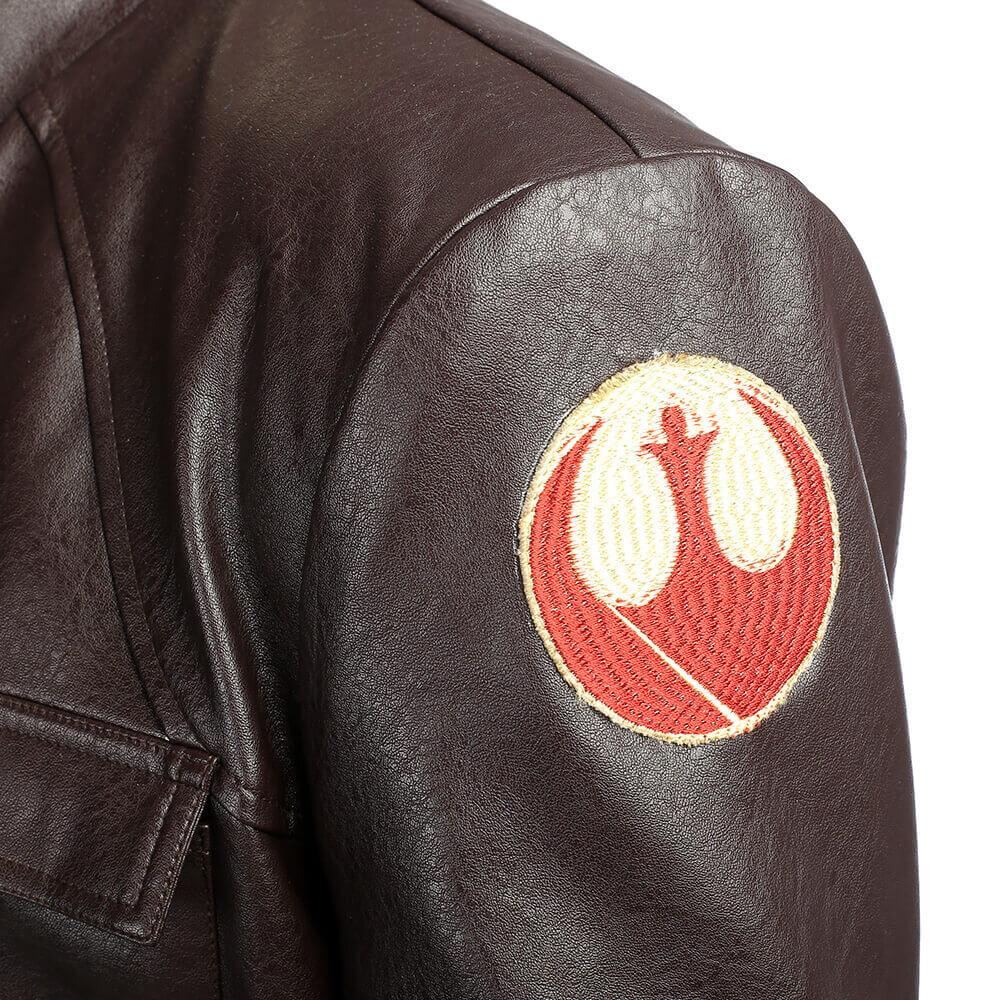Star Wars 8 Poe Dameron Cosplay Costume PU Jacket Full Suit Halloween Outfit Men