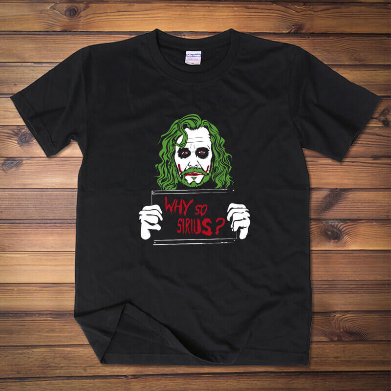 Marvel Batman Joker Why So Serious black T Shirt