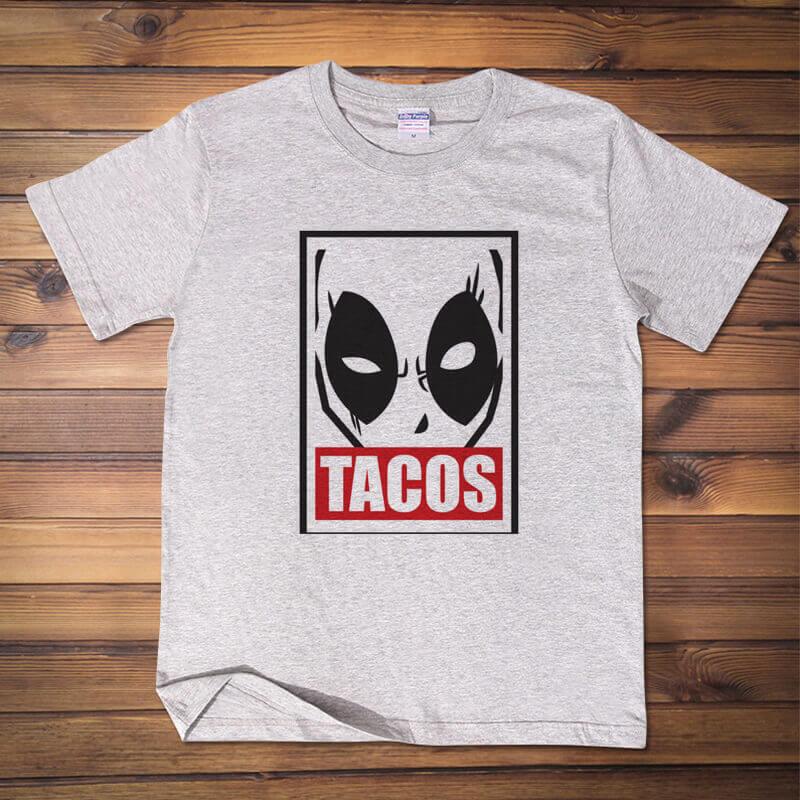 Marvel Deadpool TACOS Tshirt Whtie XXL Tee