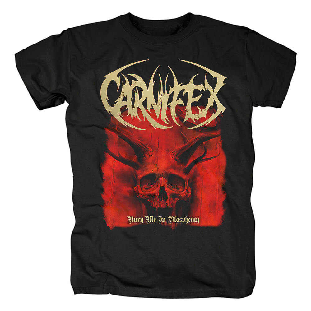 Metal Band Tees Unique Carnifex Bury Me In Blasphemy T-Shirt