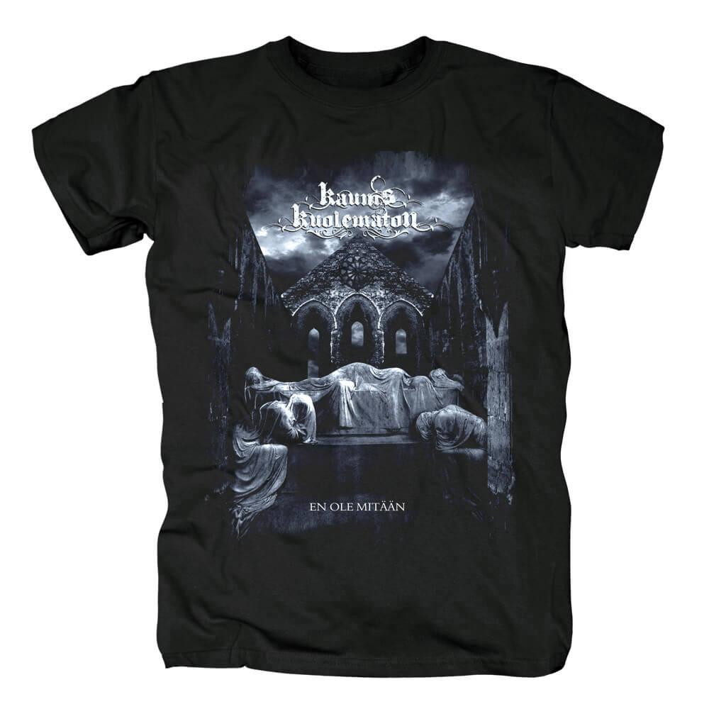 Metal Rock Graphic Tees Unique Band Kaunis Kuolematon T-Shirt
