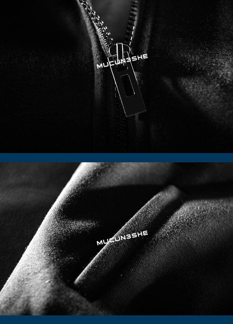 Michael Jackson MJ Hoodie Winter Zip Up Black Thick Sweater For Men