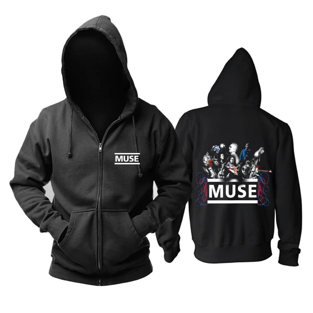 Muse Neo-Progressive Hooded Sweatshirts Uk Metal Rock Band Hoodie
