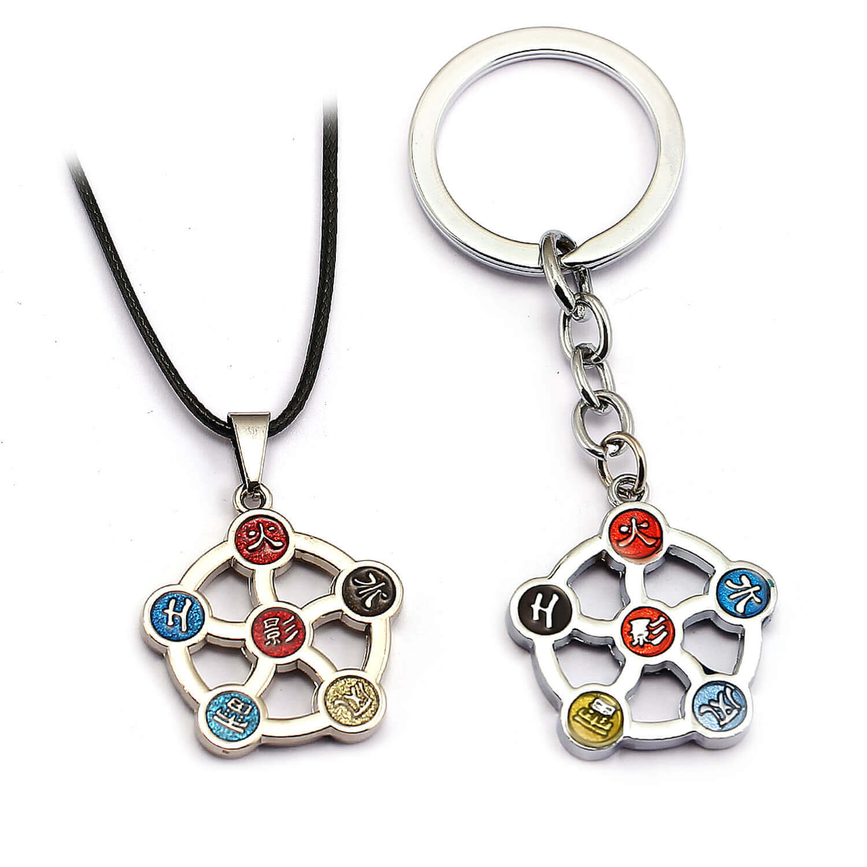 Naruto Logo Key Chain Pendant