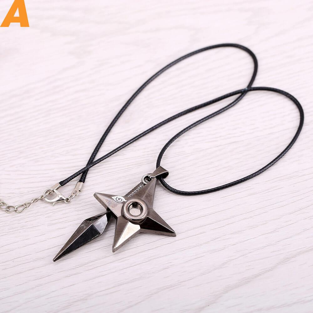 Naruto shuriken darts weapon Necklace
